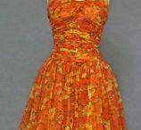 Vintage Orange is the new Black / Vintage women clothing in wonderful shades of orange.