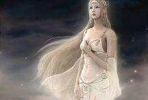 Elfes guerrières ou pacifiques / Dessins d'elfes imaginaires, elfes en Gn ou dans des films...