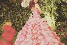 わたしだけのドレス。憧れピンクドレス。
