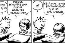 Calvin&Hobbes / Calvin y Hobbes de Bill Watterson ha sido una de las tiras cómicas favoritas mundialmente desde su introducción en 1985. La tira cómica sigue las aventuras imaginativas de Calvin y su tigre, Hobbes. Ya sea que trate de temas serios como problemas de familia o viajes en el tiempo (con la ayuda de una caja de cartón), Calvin y Hobbes ¡te dejará atónito!