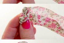 декор-цветы из ткани