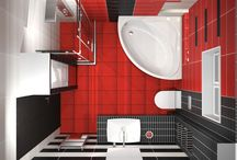 Τριχρωμία Aquarella / Το μπάνιο με διάστάσεις 2.60x2.55 m ανήκει σε κατοικία στην περιοχή της Βέροιας, και το ύψος του περιορίστηκε στα 2.50 m με την κατασκευή ψευδοροφής από γυψοσανίδα. Για την επένδυση των τοίχων χρησιμοποιήθηκαν τα τρία χρώματα της σειράς Aquarella με διάσταση 20x50cm ενώ για την επίστρωση του δαπέδου χρησιμοποιήθηκε διάσταση 32x32cm.
