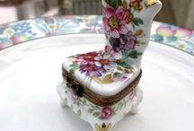 Collectible boxes / Porcelain, lacquer ware boxes