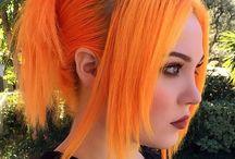 Orange hair style