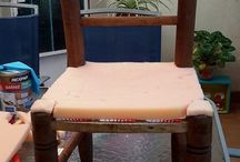 pintar y tapizar silla