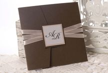 Lucy Brown / wedding invitation by Erika Velsicz