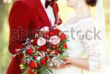 Marsala Red Wedding Style Photographs