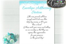 Baby Shower Aqua Blue Games, Invitations, Decorations and more... / Hi, thank you for visiting this beautiful baby shower board with blue aqua theme. Here you can find a lot of aqua blue baby shower decorations and activities with over 40 listings per theme.