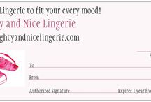 Naughty and Nice Lingerie Gift Certificate / Need a last minute gift idea? Get instant delivery by purchasing a Naughty and Nice Lingerie Gift Certificate! Great for #ValentinesDay #Birthdays #Anniversary #SecretSanta #BFFs and more!