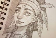 Girls drawn