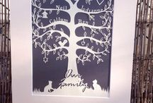 Paper cut family trees / Up to 8 names can be added to the family trees. The perfect gift for weddings, birthdays or anniversaries.