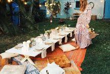 Outdoor And Boho Parties / Garden Parties/ Picnics