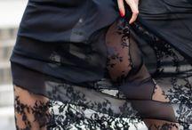black work skirts