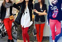Moda - Looks - Calças coloridas