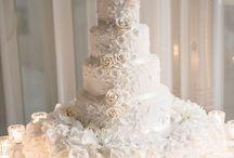 decoración para bodas con ponque