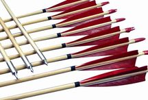 """Wooden arrows / Feather fletched wooden arrows, ramin wood shaft fletched by 5"""" turkey feather, different color option. Good arrow for traditional recurve&longbows."""