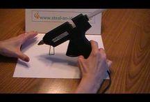 How to use glue gun