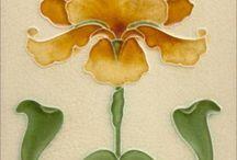 Piastrelle/ disegni Art Nouveau