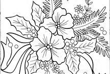 templates fleurs de noèl