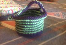 DIY basket acrylic crochet handmade