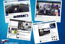 Social media projects / A board with impressions of my previous and current social media projects