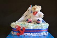 Ahoy It's a Boy ~ Sailor Theme Diaper Cake