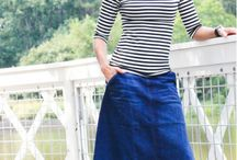 Modest Denim Skirts / Denim jean skirts never go out of style! We want to continue bringing in modest and trendy denim skirts and getting motivation from others!
