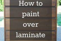 How to paint over laminate etc