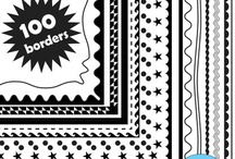 Borders and Frames / Borders and frames clip art and commercial use graphics.