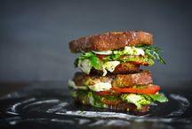 Salad & sandwiches & soup