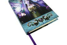 Papeterie / Images de journal intime, carnet féerique, fantasy et gothique et divers articles de papeterie