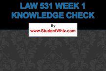 LAW 531 Week 1 Quiz