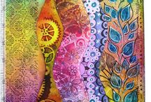 Inspiring journal pages / Lots of wonderful art journal pages to inspire you & me....