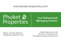 Phuket Properties Business Cards / Our contact cards for enquiries