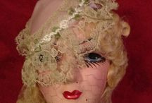 Dolls~in~the~Boudoir / ~*~full body dolls, doll head hat stands, doll face misc.~*~ / by Susan Broyles