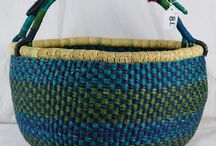 Bolga Baskets / These are some of the baskets we have in stock for sale at the moment, it is an everchanging stock. See how the baskets are made at our blog: http://blog.worldbasket.co.uk/?p=14