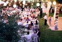 Garden wedding party