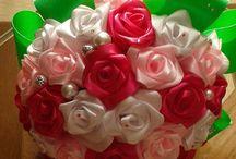 Szaténvirágok / Kézzel készült szaténvirágokról, csokrokról