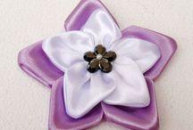 flor fita de cetim
