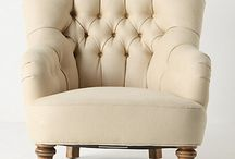 Armchairs / Why am I so obsessed suddenly with winged armchairs? Currently looking for a duo that I can tear apart and reupholster. DIY Dreams / by Aisha Ali