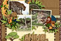 Animal Scrapbook Layouts