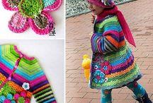 crochet kids coats