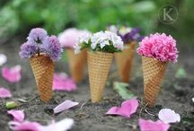Gelati di ...fiori!/ Flowers ice creams / Decorazioni originali per il matrimonio Original ice cream decor for a wedding