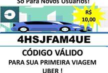 Viagem Uber Grátis de 10 Reais