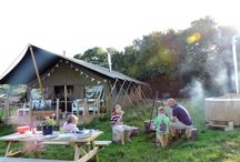 Middle Stone Farm / Child friendly luxury holiday cottages and luxury glamping in the heart of Somerset. Private Hot Tub with each safari tent. - http://www.groupstays.co.uk/