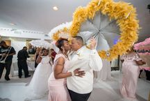 Kin and Nicole's parasol party wedding