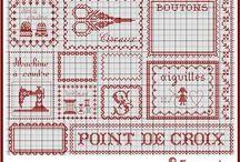 kruissteek, naaien en borduren