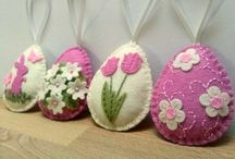 Easter and spring felt decorations