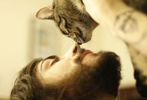 Men with beards with cats / Need I say more