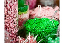 Green & Pink swee/dessert table / Inspiration for one of our clients who is having a vibrant pink & green Treat Boutique display for her wedding
